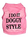 Cat / Dog Shirt / T-Shirt Pink Dog Clothes Spring/Fall Letter & Number