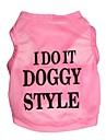 Pisici / Câini Tricou Roz Îmbrăcăminte Câini Primăvara/toamnă Literă & Număr