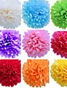 8 polegadas de casamento flores de papel da decoracao do partido pompons papel de seda casamento artesanato (conjunto de 4)