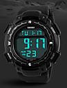 Men's Military Design Digital LCD Screen Black Rubber Band Sport Wrist Watch Cool Watch Unique Watch Fashion Watch