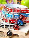 Dog Collar Adjustable/Retractable Red / Black / Blue / Pink PU Leather