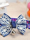 Dog Collar Adjustable/Retractable / With Bell White / Blue Nylon / Lace