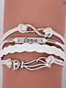 eruner®leather armbanden multilayer legering liefde en kat charmes oneindige handgemaakte beha