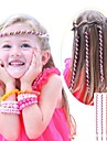 6Pcs 24cm Pink Children\'s Curly Hair Rope
