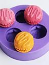 tres furos macarons fondant em forma de molde bolo de chocolate