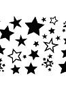 2Pcs Yimei Tattoo Stickers Waterproof Animal Series Women/Girl/Men/Adult/Boy/Teen Black  Stars  Pattern  17cm*16cm