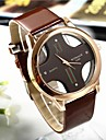 Popular Men's Round Cross Golden  Dial  Leather Band Quartz Analog Wrist Watch(Assorted Color) Cool Watch Unique Watch Fashion Watch
