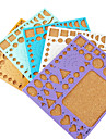 Template For Make Quilling Paper DIY Craft Art Decoration (Random Color,21x18cm)