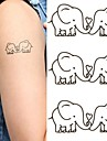 Elephants Lovers Lovely Tattoo Stickers Temporary Tattoos(1 Pc)