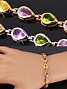 Femme Charmes pour Bracelets Bracelets de tennis bijoux de fantaisie Zircon Platine Plaque or Alliage Bijoux Pour Mariage Soiree