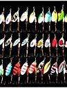 Spinner Baits 30pcs 3-3.5g Fishing Lures Metal Bait Brass Spinner