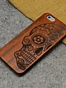 Wood Human Skeleton Carving Concavo Convex Hard Back Cover for iPhone 6s/iPhone 6