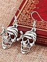 European Style Metal Punk Retro Smiling Skull Earrings