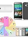 Pour Coque HTC Ultrafine Transparente Coque Coque Arriere Coque Couleur Pleine Dur PUT pour HTC