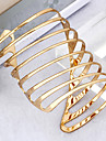 Punk Style Spiral-Shaped Opening AdjustableAlloy Bracelet Gold(1Pc)