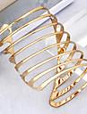Punk Style Spiral-Shaped Opening AdjustableAlloy Bracelet Gold(1Pc)
