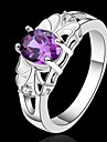 Statement Rings Crystal Sterling Silver Purple Jewelry Wedding Party Daily Casual 1pc