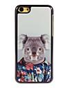 lindo estojo rígido koala design em alumínio para iphone 5c