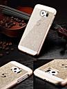 Para Samsung Galaxy Capinhas Estampada Capinha Capa Traseira Capinha Brilho com Glitter PC Samsung S6