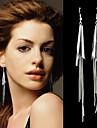Fashion Style Silver Plated Long Tassel Earrings