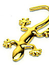 Golden Metal Gecko Car Stickers(10*4.5)