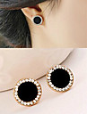 Earring Stud Earrings Jewelry Women Party / Sports Alloy / Rhinestone 2pcs