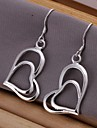 Earring Heart Drop Earrings Jewelry Women Wedding / Party / Daily / Casual Silver Plated 2pcs Silver