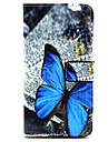 Para Samsung Galaxy Capinhas Case Tampa Porta-Cartão Com Suporte Flip Magnética Estampada Corpo Inteiro Capinha Borboleta Couro PU para
