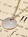 Necklace Pendant Necklaces Jewelry Party Daily Casual Initial Jewelry Alloy 1pc Gift Silver