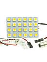 T10  BA9S SV8.5 G4 LED  4.5W 24X5050SMD LED 240LM  Blue/Red/Warm White/Yellow/White  for Car Light Bulb  (DC12-16V)