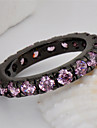 High Quality Fashion Women\'s Black Gold 10 KT Zircon Pink Ring