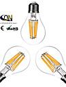 3 шт. ONDENN E26/E27 8W 8 COB 800 LM Тёплый белый A60(A19) edison Винтаж LED лампы накаливания AC 220-240 / AC 110-130 V