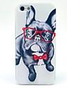 Pour Coque iPhone 5 Motif Coque Coque Arriere Coque Chien Flexible PUT pour iPhone SE/5s/5