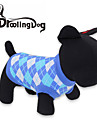 Cat / Dog Shirt / T-Shirt Red / Blue Dog Clothes Spring/Fall Plaid/Check