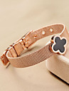 Sweet  Women's Shell Four-leaf Clover Titanium Steel Bangle Christmas Gifts