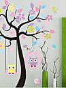 arvore colorida corujas adesivo de parede de pvc
