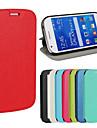 Для Кейс для  Samsung Galaxy со стендом / Флип Кейс для Чехол Кейс для Один цвет Искусственная кожа Samsung Ace 4