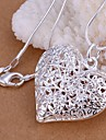 Necklace Pendant Necklaces Jewelry Wedding Party Daily Casual Heart Fashion Silver Plated Women 1pc Gift Silver