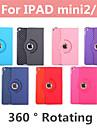 slanke pu læder 360 graders roterende tilfælde dække stå for nye iPad mini sag tablet sag