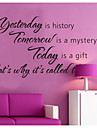 어제는 역사 홈 장식 벽 데칼 장식 이동식 비닐 벽 스티커를 zooyoo8138입니다