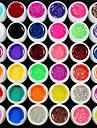 36PCS Mix Powder Pure Color Glitter Paillette Sequins UV Color Gel