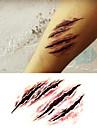 Halloween Terror Scary Wound Tattoo Stickers Temporary Tattoos(1 Pc)