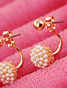 Stud Earrings Pearl Imitation Pearl Alloy White Screen Color Jewelry 2pcs
