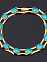 U7® Turquoise Bracelets Bangles For Women 18K Real Gold Plated  Bangles Turkey Stone Jewelry