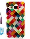 padrao de grade colorido TPU soft case para Samsung Galaxy a3