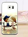 Para Funda Samsung Galaxy En Relieve Funda Cubierta Trasera Funda Dibujos TPU Samsung S6