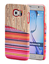Magic Spider®Orange National Wind Style Textile Coated Wood Pattern PC Case with Screen Protector for Samsung Galaxy S6