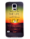 Sunset Pattern TPU Material Soft Phone Case for Samsung S5 I9600