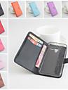 용 알카텔 지갑 / 카드 홀더 / 스탠드 / 플립 / 마그네틱 케이스 풀 바디 케이스 단색 하드 인조 가죽 Alcatel