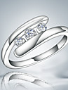 Guaranteed 100% silver plated women durable party band ring